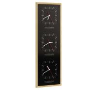 Часы тройные вертикальные Rossano