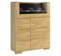 Шкаф-бар Rossano 2D со стеклянной столешницей