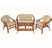 Комплект с диваном Маркос (Cognac)