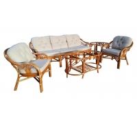 Комплект плетеной мебели для гостиной 01/14 (Cognac)