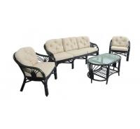 Комплект плетеной мебели для гостиной 01/14 (Dark Brown)