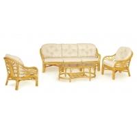 Комплект плетеной мебели для гостиной 01/14 (Honey)