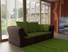 Плетеные диваны