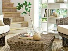 Плетеные журнальные, кофейные, ламповые столы