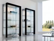 Витрины, стеллажи, шкафы в современном стиле