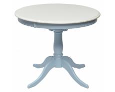 Стол обеденный TS Siena D90 (Ivory White/Blue)