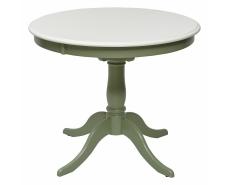 Стол обеденный TS Siena D90 (Ivory White/Olivia Green)