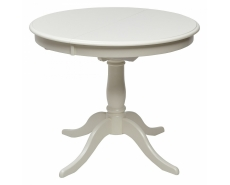 Стол обеденный TS Siena D90 (Ivory White)