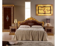 Кровать Дженнифер люкс (mahagony)