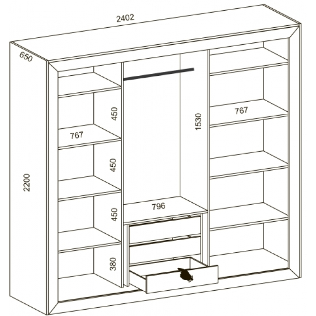 Шкафы купе для спальни фото и схемы